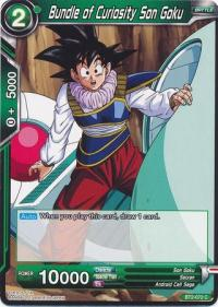 dragonball super card game bt2 union force bundle of curiosity son goku bt2 072 c