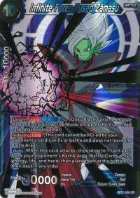 dragonball super card game bt2 union force infinite force fused zamasu bt2 058 sr