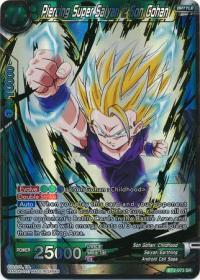 dragonball super card game bt2 union force piercing super saiyan 2 son gohan bt2 073 sr