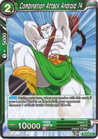 dragonball super card game bt3 cross worlds combination attack android 14 bt3 072 foil