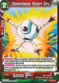 dragonball super card game bt3 cross worlds dependable robot giru bt3 012 foil
