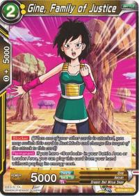 dragonball super card game bt3 cross worlds gine family of justice bt3 087 foil