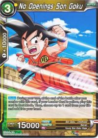 dragonball super card game bt3 cross worlds no openings son goku bt3 090 foil