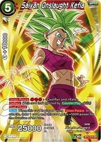 dragonball super card game bt4 colossal warfare saiyan onslaught kefla bt4 019 sr
