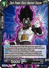 dragonball super card game bt5 miraculous revival dark power black masked saiyan bt5 112