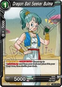 dragonball super card game bt5 miraculous revival dragon ball seeker bulma bt5 107