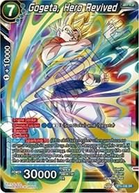 dragonball super card game bt5 miraculous revival gogeta hero revived sr bt5 038