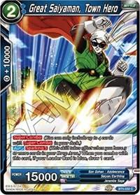 dragonball super card game bt5 miraculous revival great saiyaman town hero bt5 032