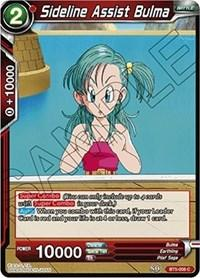 dragonball super card game bt5 miraculous revival sideline assist bulma bt5 008