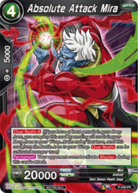 dragonball super card game dragonball super promos absolute attack mira p 038 promo