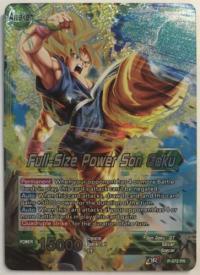 dragonball super card game dragonball super promos full size power son goku p 072