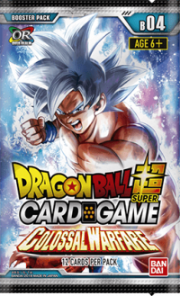 dragonball super card game dragonball super sealed product colossal warfare booster pack