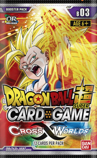 dragonball super card game dragonball super sealed product cross worlds booster pack