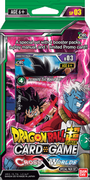 dragonball super card game dragonball super sealed product cross worlds special pack set