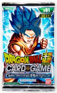 dragonball super card game dragonball super sealed product galactic battle booster pack