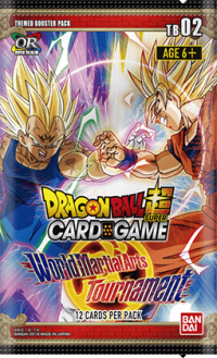 dragonball super card game dragonball super sealed product tb2 world martial arts tournament booster pack