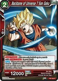 dragonball super card game tb1 tournament of power backbone of universe 7 son goku tb1 003 foil