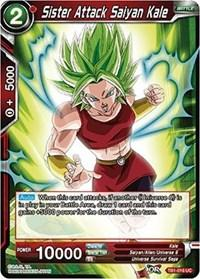 dragonball super card game tb1 tournament of power sister attack saiyan kale tb1 016 foil