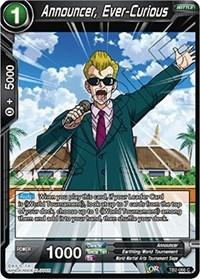 dragonball super card game tb2 world martial arts tournament announcer ever curious tb2 066 foil