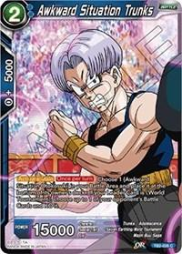 dragonball super card game tb2 world martial arts tournament awkward situation trunks tb2 026 foil
