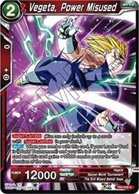 dragonball super card game tb2 world martial arts tournament vegeta power misused tb2 006 foil