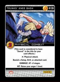 dragonball z awakening trunks knee bash