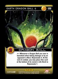 dragonball z awakening earth dragon ball 6 foil