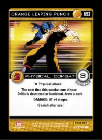 dragonball z awakening orange leaping punch foil