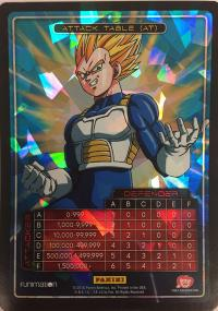 dragonball z awakening attack table foil vegeta