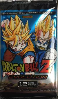 dragonball z dbz sealed product dbz panini evolution booster pack