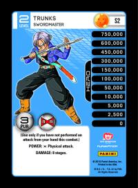 dragonball z evolution trunks swordmaster foil