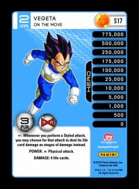 dragonball z evolution vegeta on the move foil
