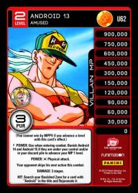 dragonball z vengeance android 13 amused foil