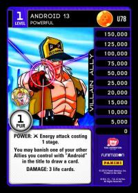 dragonball z vengeance android 13 powerful foil