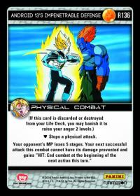 dragonball z vengeance android 13 s impenetrable defense foil