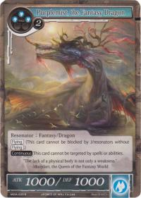 force of will the milennia of ages purplemist the fantasy dragon foil