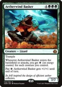 magic the gathering aether revolt promos aetherwind basker 104s 184