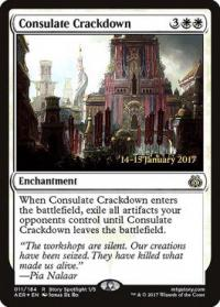 magic the gathering aether revolt promos consulate crackdown 11s 184