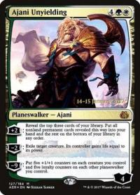 magic the gathering aether revolt promos ajani unyielding 127s 184