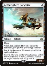 magic the gathering aether revolt promos aethersphere harvester 142s 184