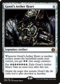 magic the gathering aether revolt promos gonti s aether heart 152s 184