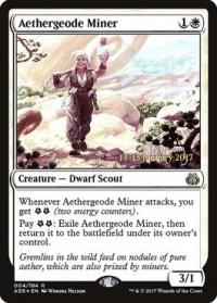 magic the gathering aether revolt promos aethergeode miner 4s 184