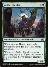 magic the gathering aether revolt aether herder foil