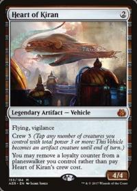 magic the gathering aether revolt heart of kiran foil
