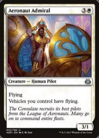 magic the gathering aether revolt aeronaut admiral foil