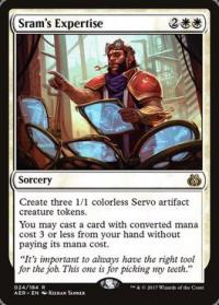 magic the gathering aether revolt sram s expertise foil