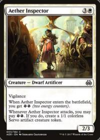 magic the gathering aether revolt aether inspector foil