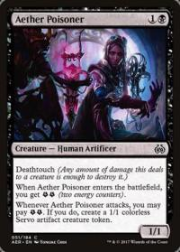 magic the gathering aether revolt aether poisoner foil