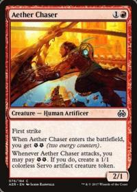 magic the gathering aether revolt aether chaser foil