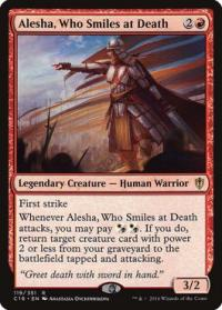 magic the gathering commander 2016 alesha who smiles at death 119 351